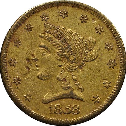 1858 'C-1' Quarter Eagle counterfeit
