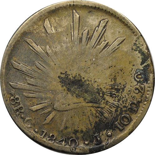 1840 G 8 reales counterfeit