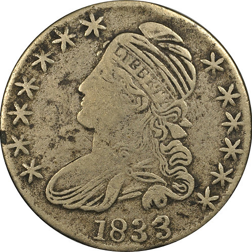 1833 2-B CBH Counterfeit, F/VF