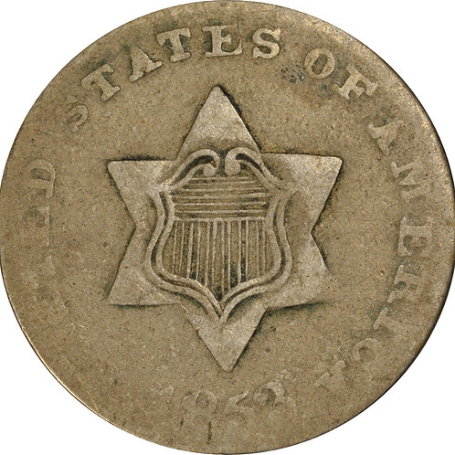 1853 1-C 3cS Counterfeit, VG/F