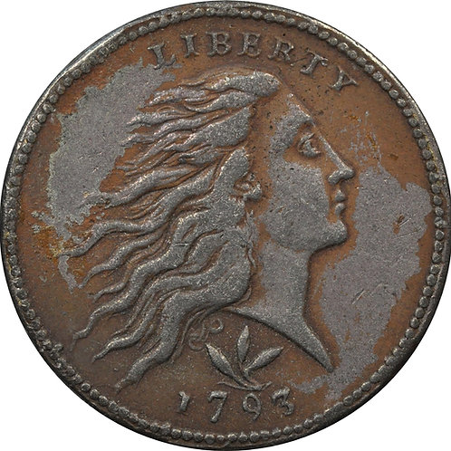 1793 S-9 large cent electrotype