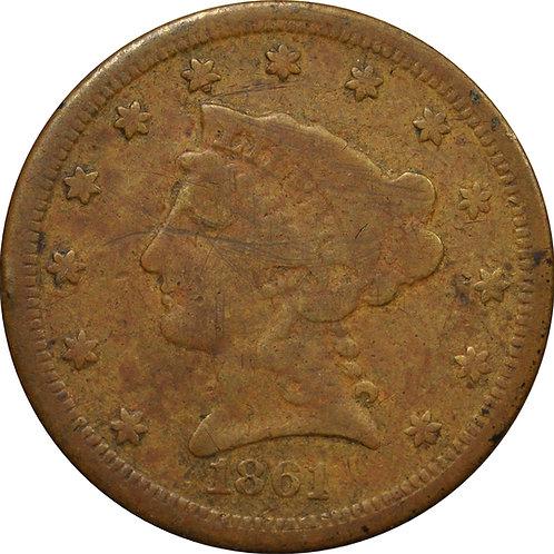 1861 'C-1' Quarter Eagle counterfeit