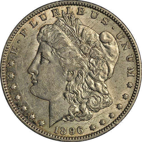 1896-O VAM-22 Morgan Dollar Counterfeit, AU+