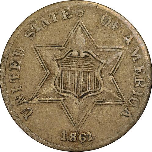 1861 4-P 3cS Counterfeit, VF+