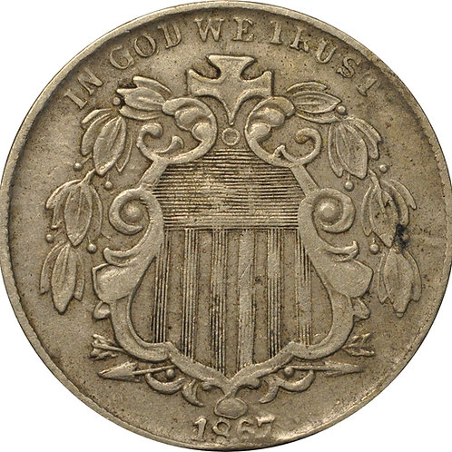 1867 Z2-C Shield Nickel