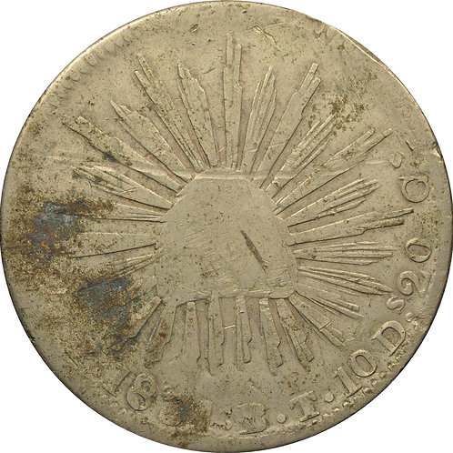1831 8 Reales 'X' counterfeit