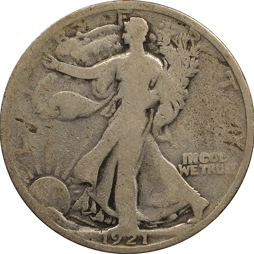 1921 Walking Liberty Half Counterfeit, Hand-Made die