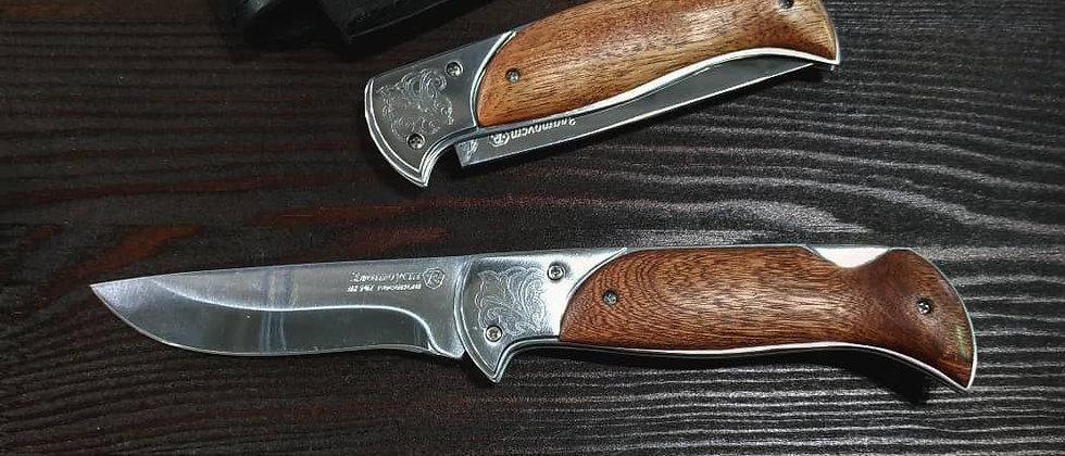 """Складной нож """"Ахиллес"""" (ст. ЭИ-107, орех)"""