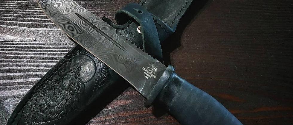 Нож Н-56 (ст. У-10А-7ХНМ) дамаск, микропора, текстолит