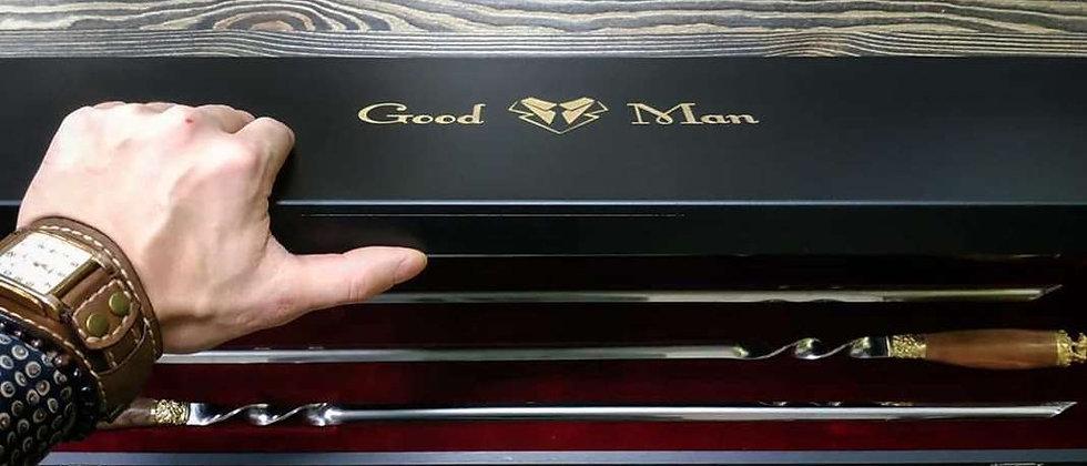 Подарочный набор шампуров Good Man, в деревянной коробке, 6 шт.