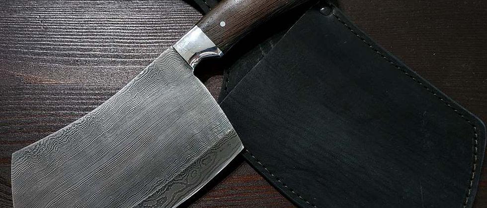 Тяпка для мяса (Дамасская сталь, рукоять граб)