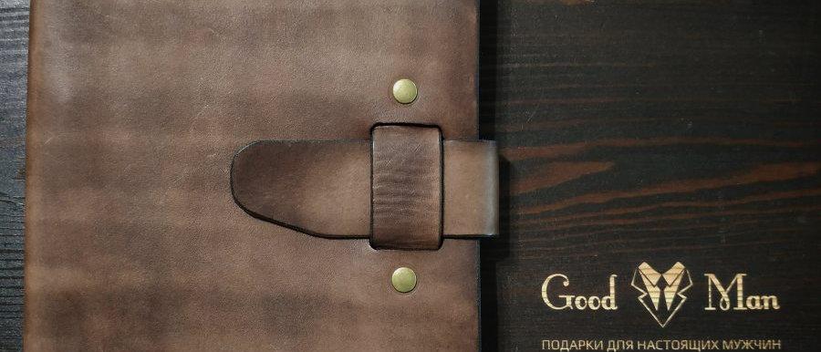 Ежедневник Good Man с ремешком, А5 (тёмно-коричневый)