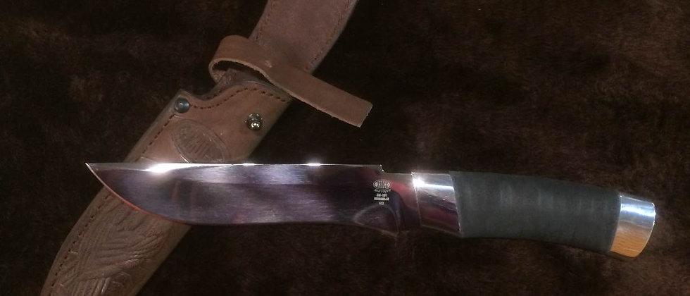 Нож Н-2 (ст. ЭИ-107) нержавеющая сталь, дюраль, микропора