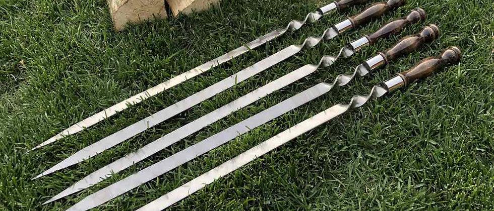 Шампур для Люля-кебаб, деревянная рукоять