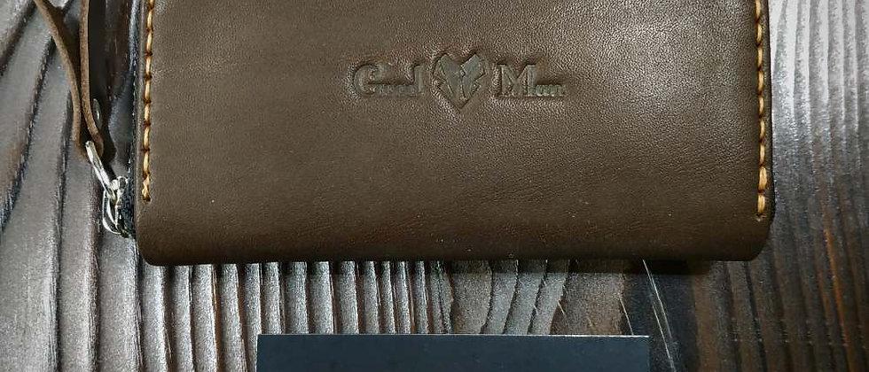 Ключница на молнии (тёмно-коричневая)