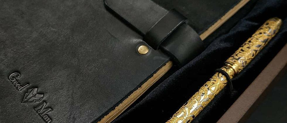 """Подарочный набор """"Ежедневник и золотая ручка"""""""