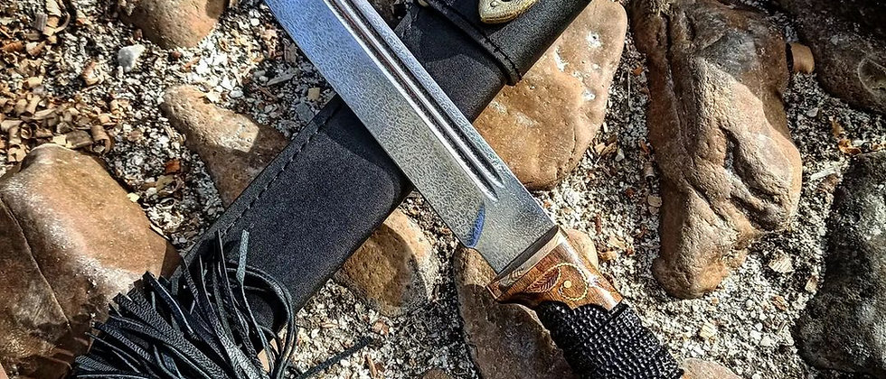 Пластунский нож (ст. К340, орех) Эксклюзив