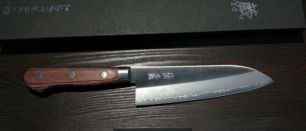 Нож Кухонный SUNCRAFT Senzo Clad, Сантоку 167 мм, 3 слоя