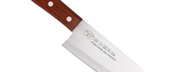 Нож кухонный Satake Line, Сантоку Natural Wood 170 мм
