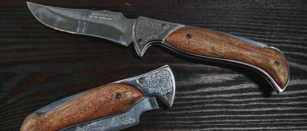 """Складной нож """"Скорпион"""" (ст. ЭИ-107, орех)"""