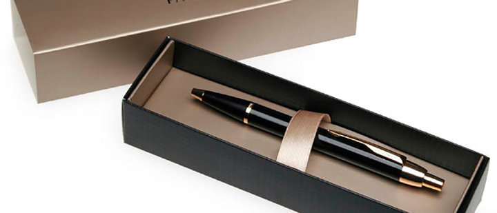 Перьевая ручка Parker IM Core F321, Black GT (Перо F)