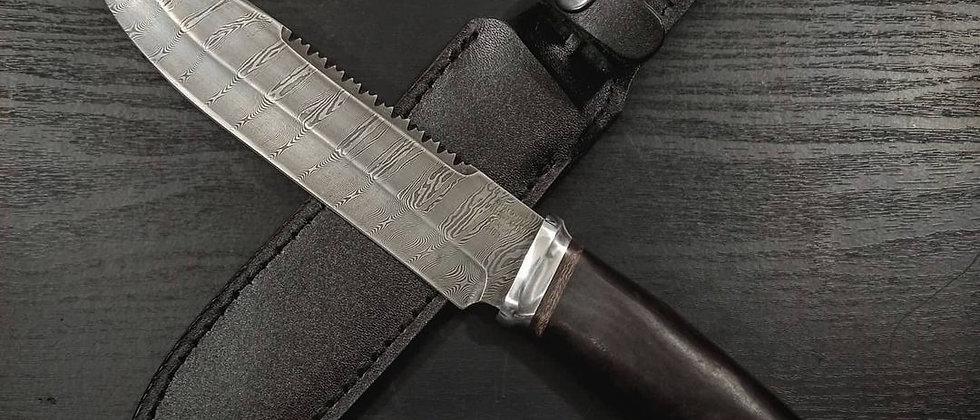 Нож Н-83 (ст. У10А-7ХНМ, дамаск, дюраль, граб)