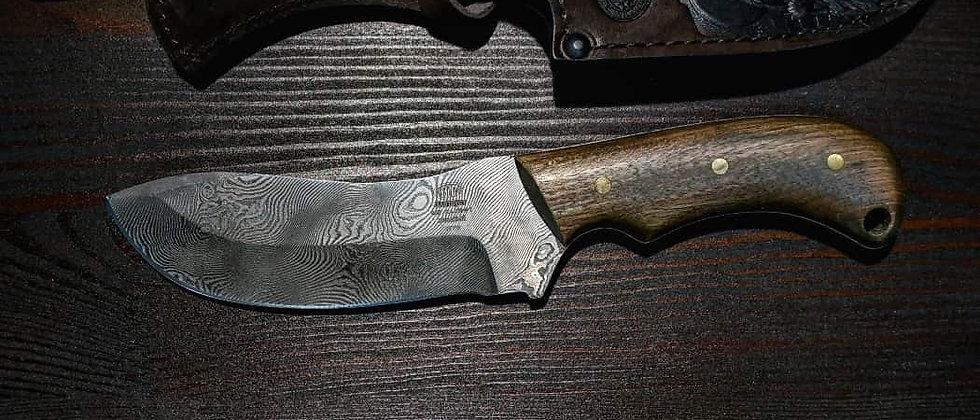 Нож Н-70 (ст. У10А-7ХНМ дамаск) рукоять орех