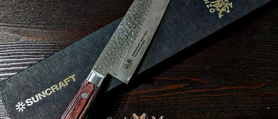 Нож кухонный Шеф (33 слоя, дамаск) SUNCRAFT, 210 мм