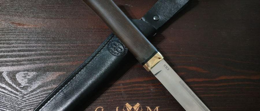 "Нож ""Бурятский малый"", ст. 100Х13М, латунь, граб, АиР"