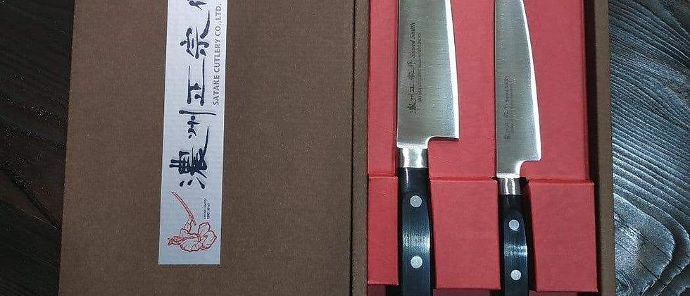 Набор подарочный SATAKE Stainless Bolster, 2 ножа