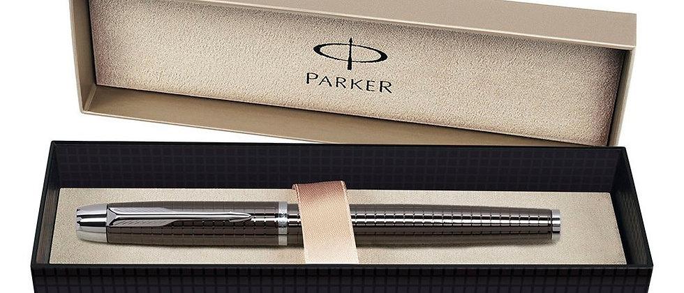 Ручка-роллер Parker IM Premium - Deep Gun Metal Chiselled CT