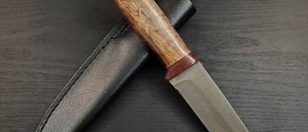 Нож НС-8 (ст. ELMAX, нержавеющий дамаск, карельская береза)