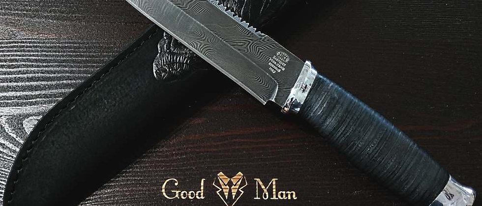 Нож Н-83 (ст. У10А-7ХНМ, дамаск дюраль, кожа)