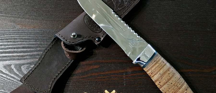 Нож Н-55 (ст. ЭИ-107, дюраль, береста)
