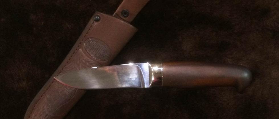Нож Н-15 (ст. ЭИ-107) кованный, никель, орех