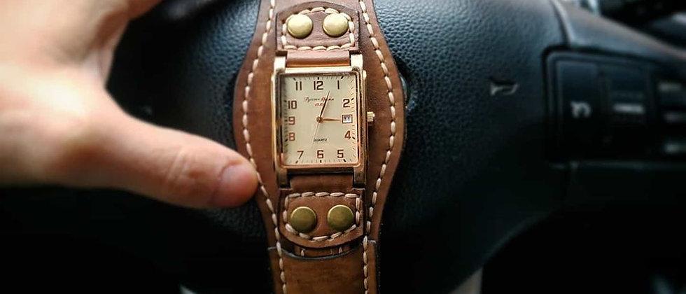 Ремешок для часов ручной работы №1 (коричневый)