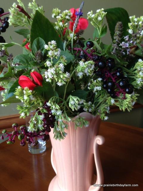 wildflowers & begonia