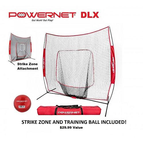 PowerNet DLX Pro Bundle(Net w/ Strike Zone, 3 Training Balls,Tee,Ball Caddy)