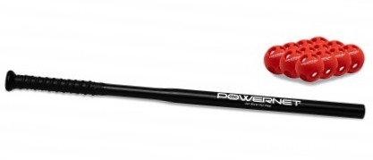 PowerNet Speed Skinny Training Bat + 12 Micro Crushers
