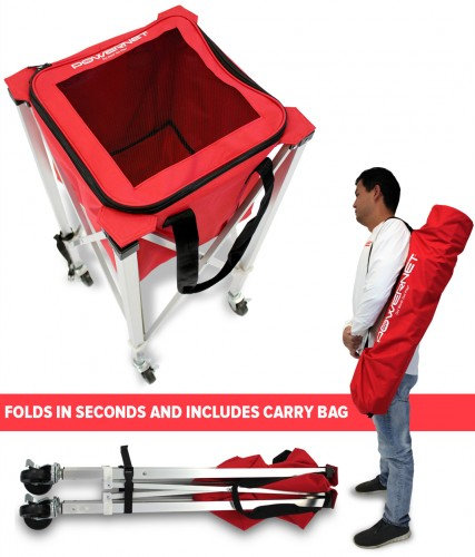 PowerNet Wheeled Ball Caddy Cart