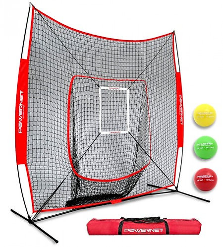 PowerNet DLX 2.0 Baseball Softball Hitting Net System w/ 3 Progressive Weighted