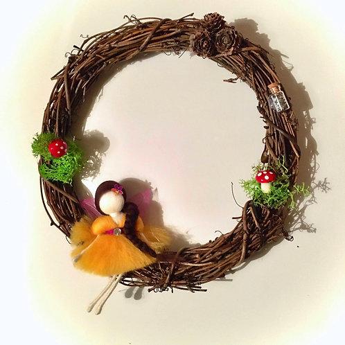 Fairy Wreath - Magical Yellow Fairy