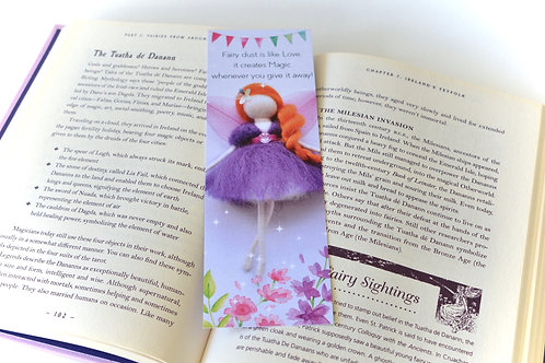 My Wool Fairy Bookmark - Purple