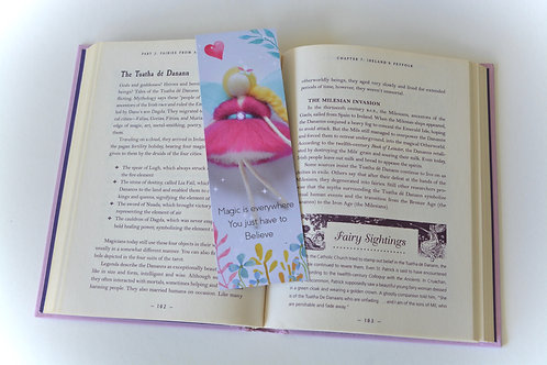 My Wool Fairy Bookmark - Pink