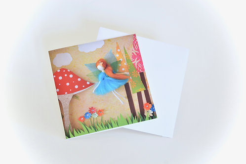 Fairy scene Mini Greeting Card