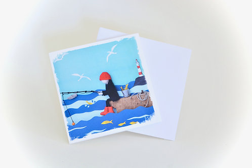 Le Pecheur Mini Greeting Card