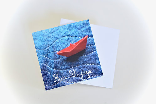 Bon Voyage Mini Greeting Card - wholesale