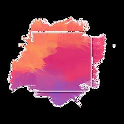 cadre-geometrique-tache-aquarelle-colore