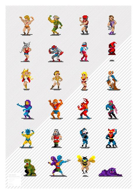 Pixel art - Masters of the Universe (bodybuilders)