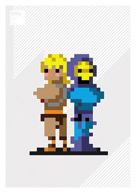 Pixel art - HeMan & Skeletor